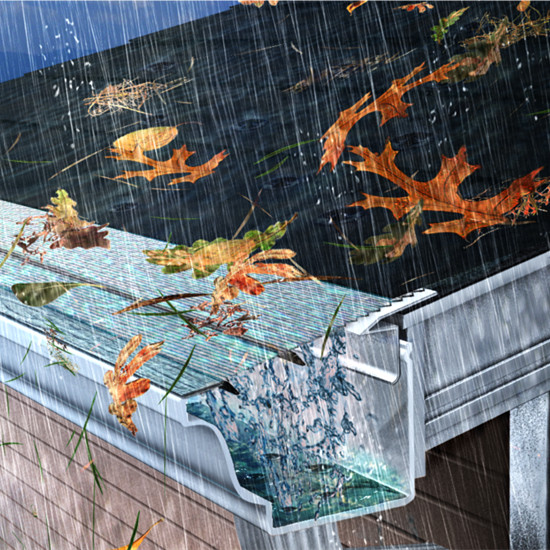 Gutter Guards Keep The Leaves And Debris Off Your Gutter